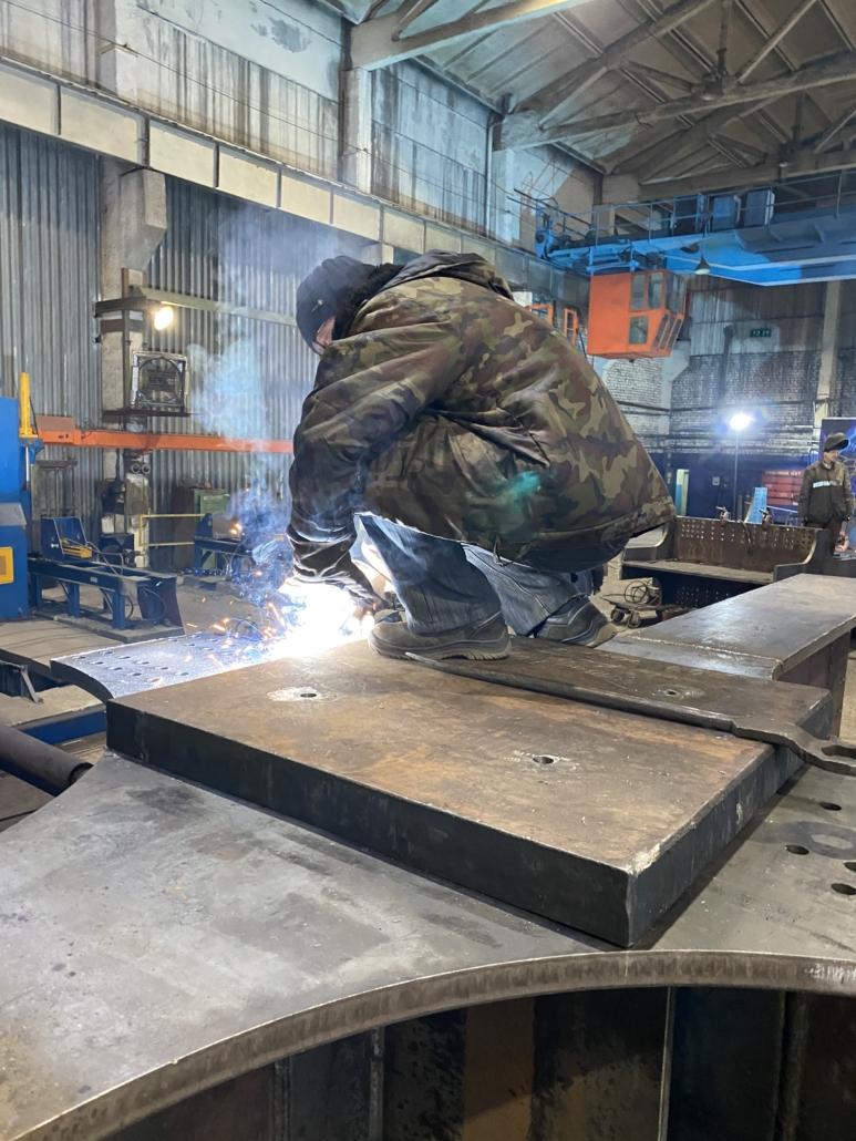 Подготовка металлоконструкций к отгрузке