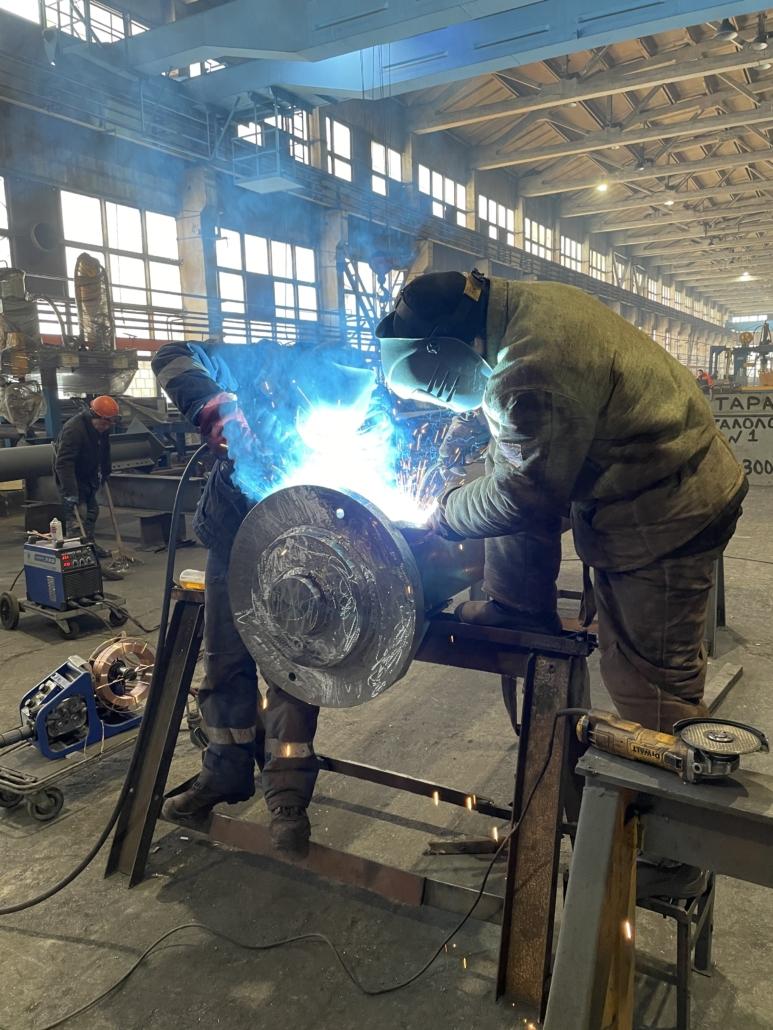 Процесс изготовления колонн из бесшовной горячедеформированной трубы 168*14